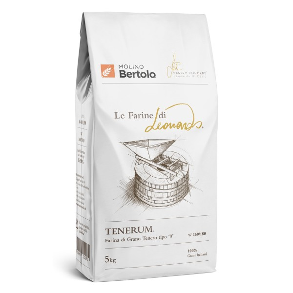 Molino Bertolo - Tenerum® - The Flours of Leonardo® - Flour Type 0 of Italian Soft Grain - 5 Kg