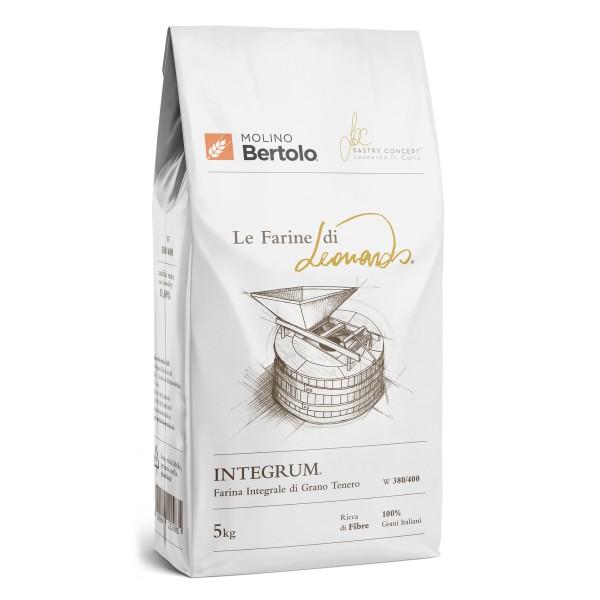 Molino Bertolo - Integrum® - Le Farine di Leonardo® - Farina Integrale di Grano Tenero Italiano - 5 Kg