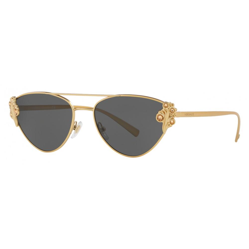 73d3fc8c55a9e Versace - Sunglasses Versace Baroccomania - Black Gold - Sunglasses - Versace  Eyewear ...