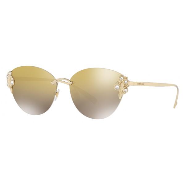 Versace - Occhiale da Sole Versace Baroccomania - Oro Chiaro - Occhiali da Sole - Versace Eyewear