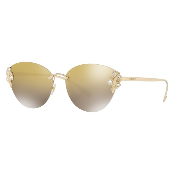 5f066221f1 Versace - Sunglasses Versace Baroccomania - Light Gold - Sunglasses - Versace  Eyewear - Avvenice