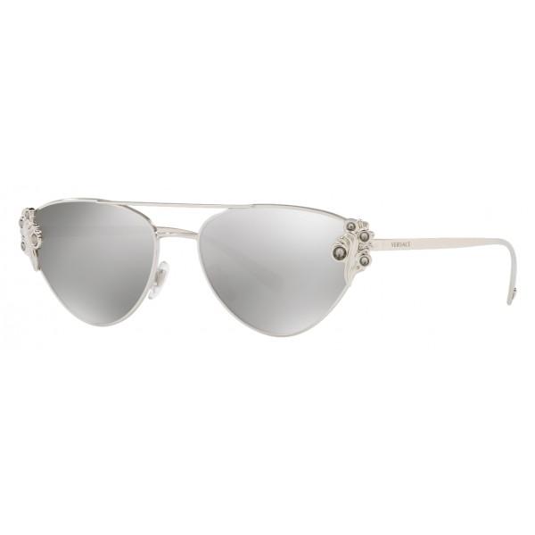 Versace - Occhiale da Sole Versace Baroccomania - Argento - Occhiali da Sole - Versace Eyewear