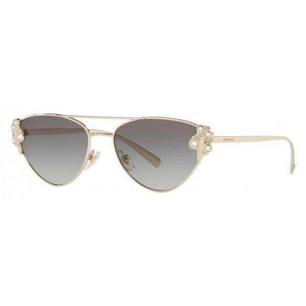 Versace - Occhiale da Sole Versace Baroccomania - Grigio Oro - Occhiali da Sole - Versace Eyewear