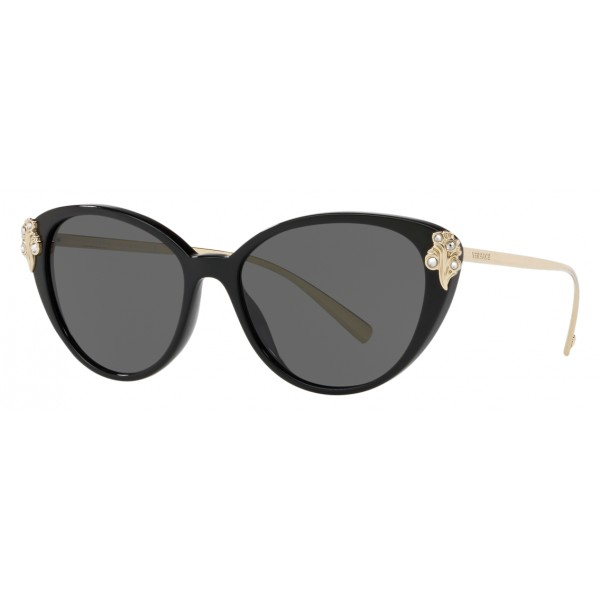 Versace - Occhiale da Sole Versace Baroccomania - Nero Oro - Occhiali da Sole - Versace Eyewear