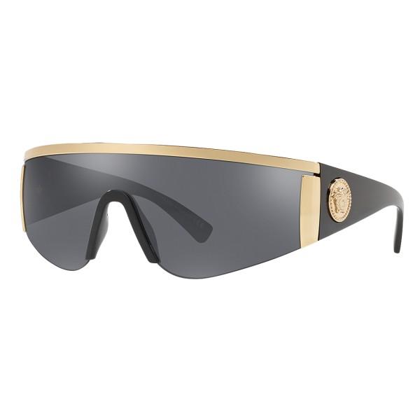 Versace - Occhiale da Sole Versace Tribute Mask - Oro Grigi - Occhiali da Sole - Versace Eyewear