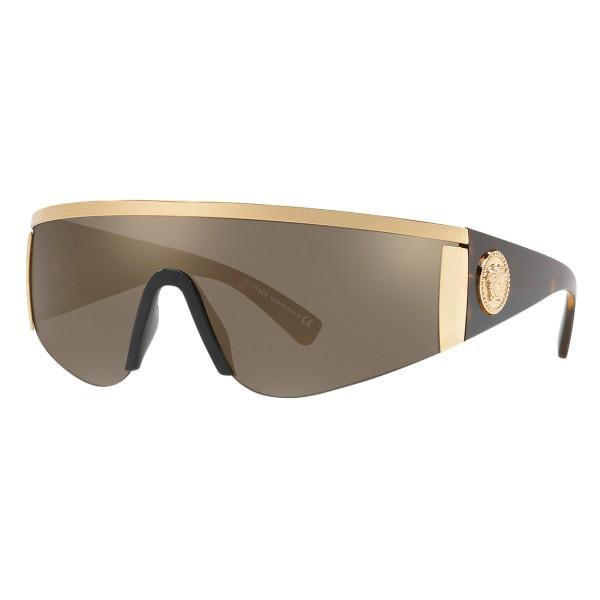 Versace - Occhiale da Sole Versace Tribute Mask - Oro Havana - Occhiali da Sole - Versace Eyewear