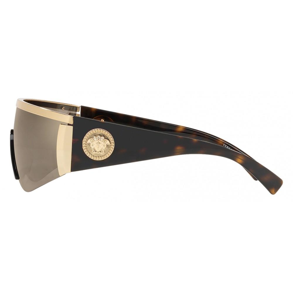 1172929b24f ... Versace - Sunglasses Versace Tribute Mask - Gold Havana - Sunglasses - Versace  Eyewear ...