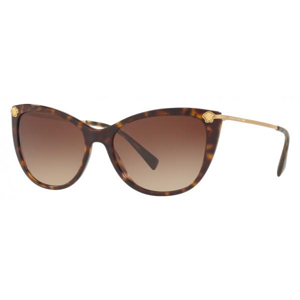 cf7f8bb1fd9 Versace - Sunglasses Versace Cat Eye Medusina Strass - Havana - Sunglasses  - Versace Eyewear - Avvenice