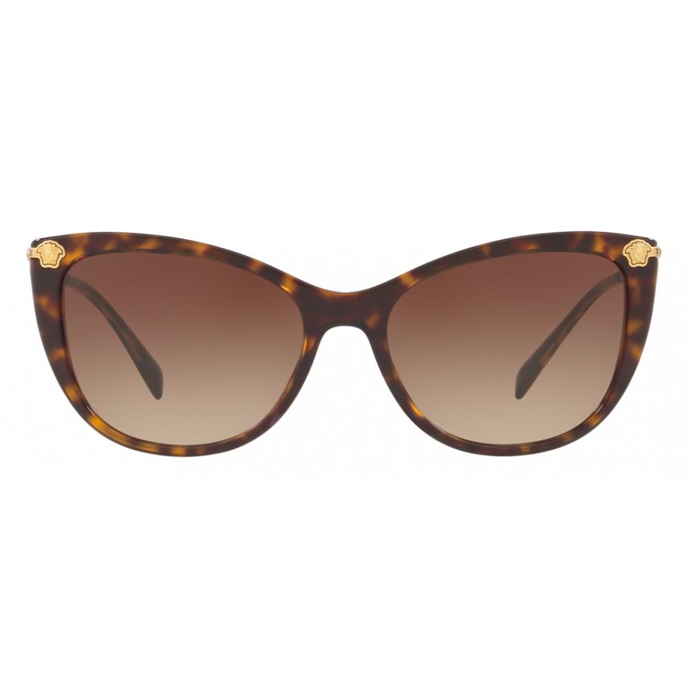 a73f3e22c36 ... Versace - Sunglasses Versace Cat Eye Medusina Strass - Havana -  Sunglasses - Versace Eyewear