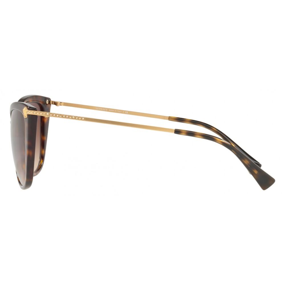 5e7393fd7ab ... Versace - Sunglasses Versace Cat Eye Medusina Strass - Havana -  Sunglasses - Versace Eyewear ...