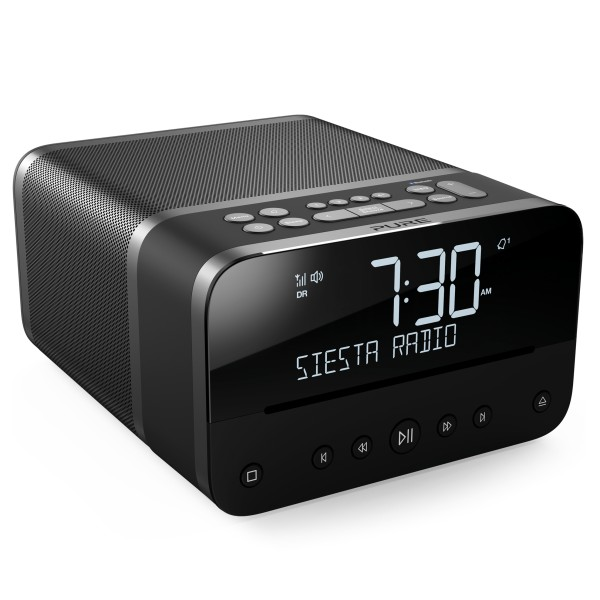 Pure - Siesta Home - Graphite - Premium Compact Music System - DAB+/FM/CD Player/Bluetooth - High Quality Digital Radio