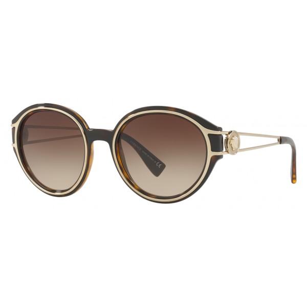 b5b66ee4230 Versace - Sunglasses Versace V-Strong - Havana - Sunglasses - Versace  Eyewear - Avvenice