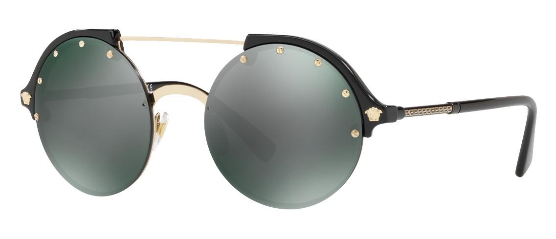 b736b7863d2 Versace - Sunglasses Versace Frenergy Round - Black Mirrored - Sunglasses - Versace  Eyewear - Avvenice