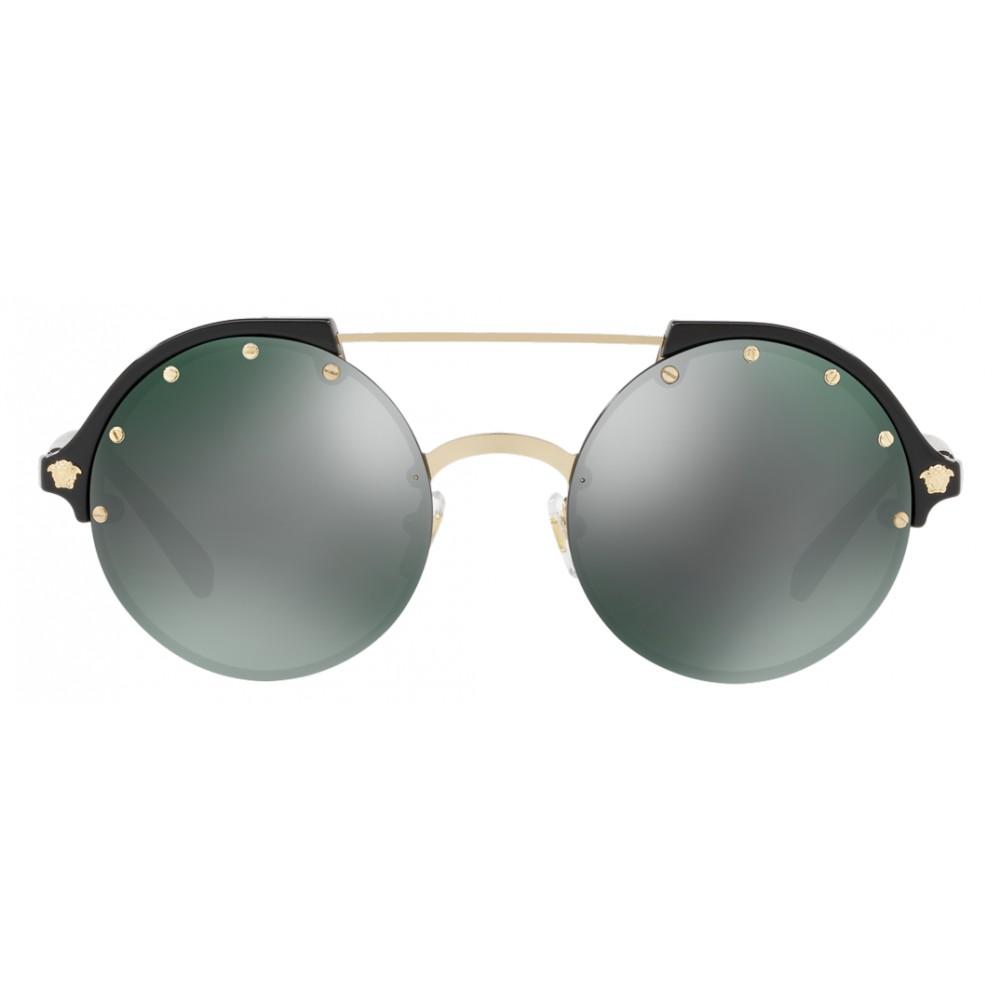 cc515fe3e02 ... Versace - Sunglasses Versace Frenergy Round - Black Mirrored -  Sunglasses - Versace Eyewear