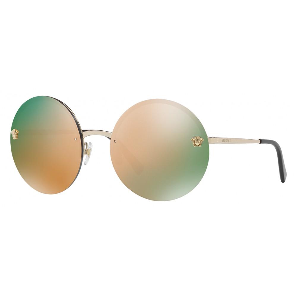 9f5f645aa676 Versace - Sunglasses Versace Mirror Medusa - Rose Gold - Sunglasses - Versace  Eyewear - Avvenice