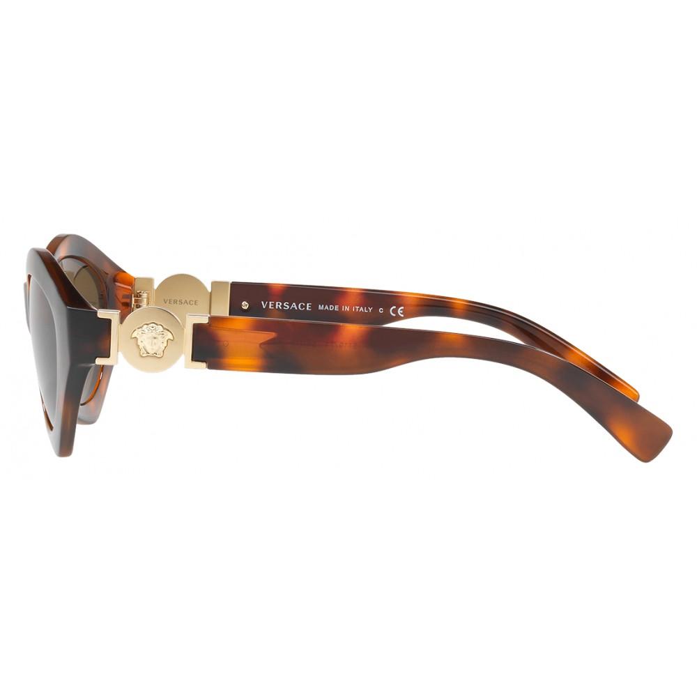 bcdbd5666e7 ... Versace - Sunglasses Versace Hexad Signature - Havana - Sunglasses - Versace  Eyewear ...