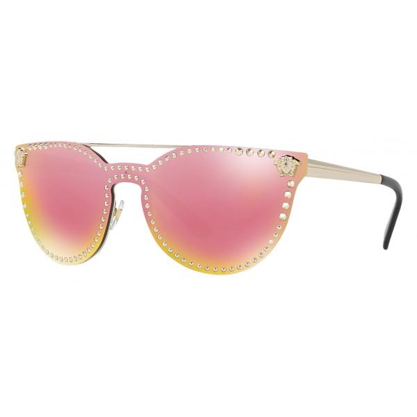 7173bf74e3e Versace - Sunglasses Versace Mirror Stud - Rose - Sunglasses - Versace  Eyewear - Avvenice