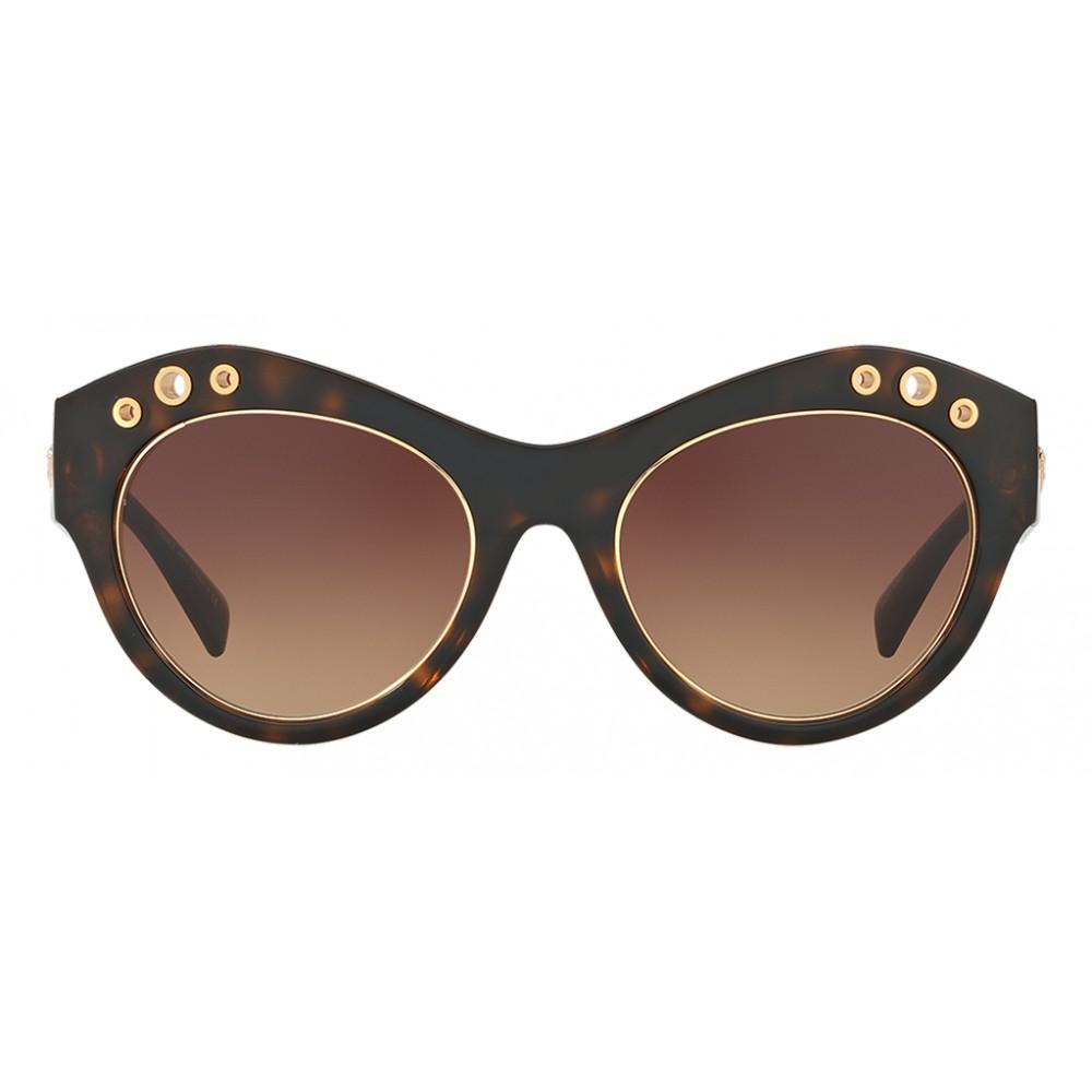 50ce77f06c4 ... Versace - Sunglasses Versace Rock Ring Cat-Eye - Brown - Sunglasses - Versace  Eyewear