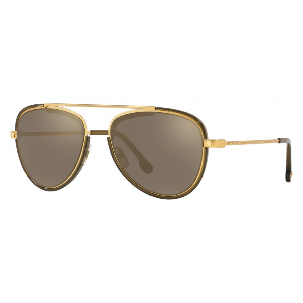 d8e581c16d8 Versace - Sunglasses Versace V-Vintage - Gold - Sunglasses - Versace Eyewear  - Avvenice