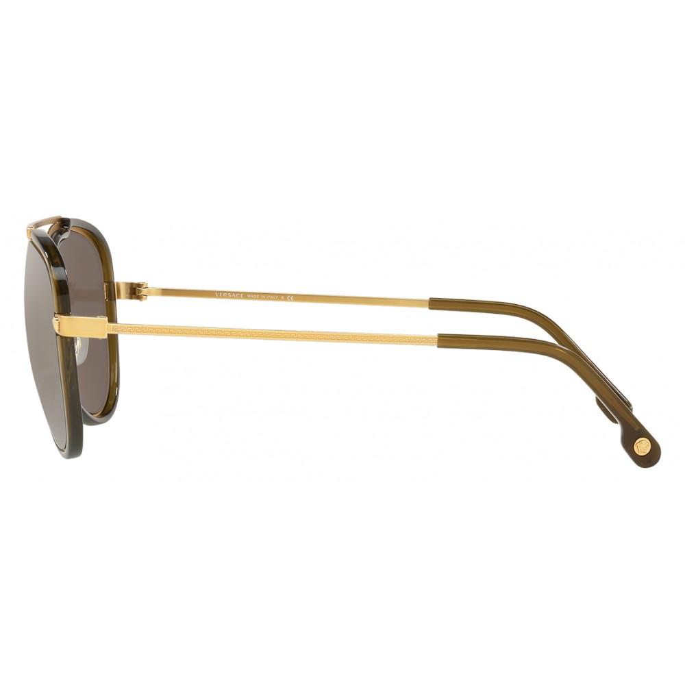 499c9f3ef08 ... Versace - Sunglasses Versace V-Vintage - Gold - Sunglasses - Versace  Eyewear ...