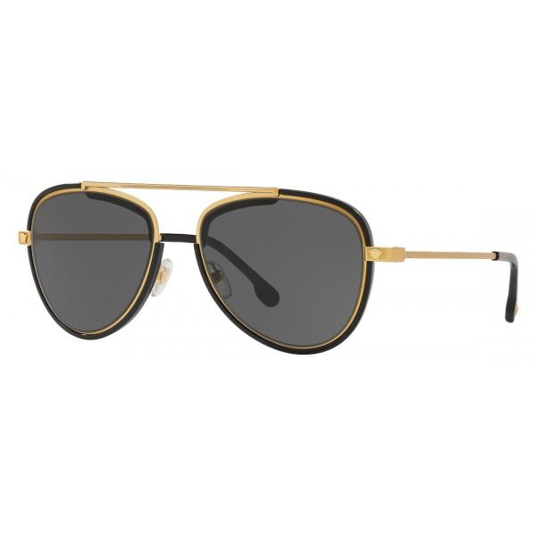 16d05542aa23 Versace - Sunglasses Versace V-Vintage - Grey Gold - Sunglasses - Versace  Eyewear - Avvenice