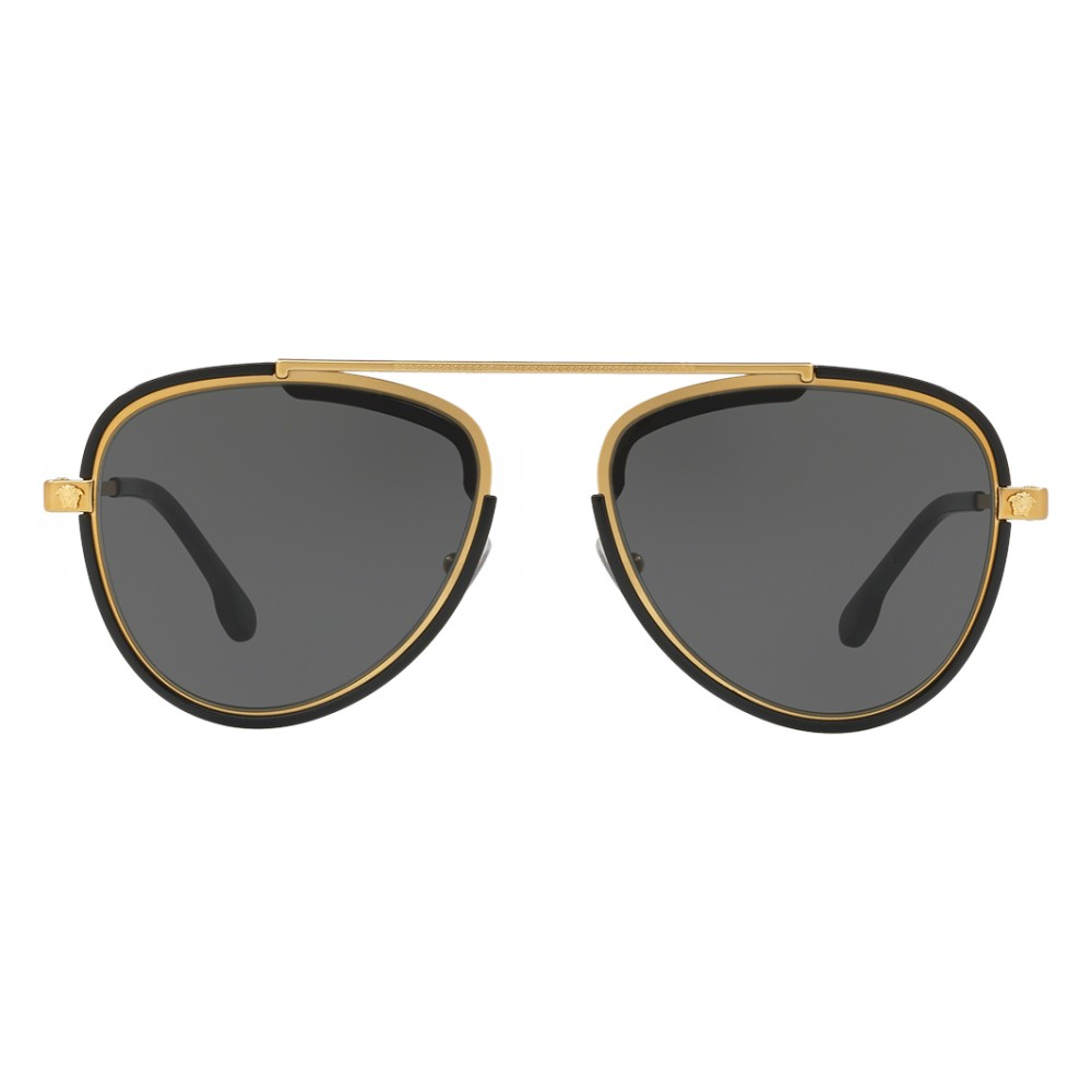 7a6a74242d6 ... Versace - Sunglasses Versace V-Vintage - Grey Gold - Sunglasses - Versace  Eyewear