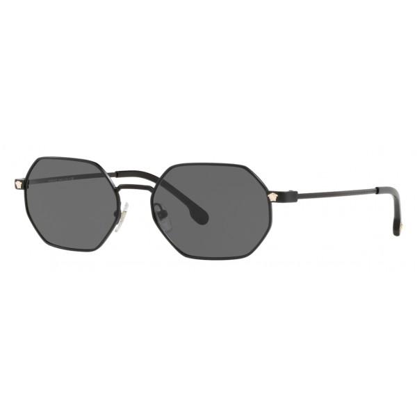 97f32e86bbd79 Versace - Sunglasses Versace Octagon V-Vintage - Black - Sunglasses - Versace  Eyewear - Avvenice