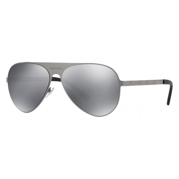 fc03fb7a973 Versace - Sunglasses Versace Aviator Medusina - Silver - Sunglasses - Versace  Eyewear - Avvenice