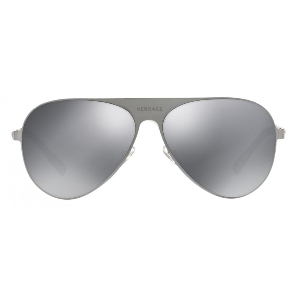 51e2a93443c ... Versace - Sunglasses Versace Aviator Medusina - Silver - Sunglasses - Versace  Eyewear
