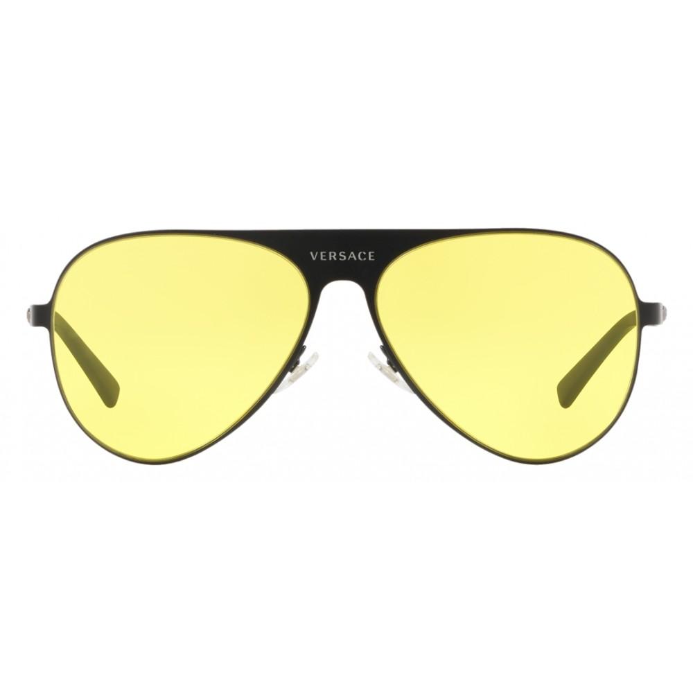 91d6578f89d ... Versace - Sunglasses Versace Aviator Medusina - Yellow Onul - Sunglasses  - Versace Eyewear