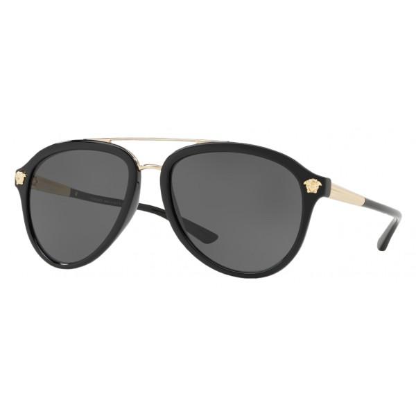 15ab6ef1f70 Versace - Sunglasses Versace Medusa Luxe - Black Grey - Sunglasses - Versace  Eyewear - Avvenice