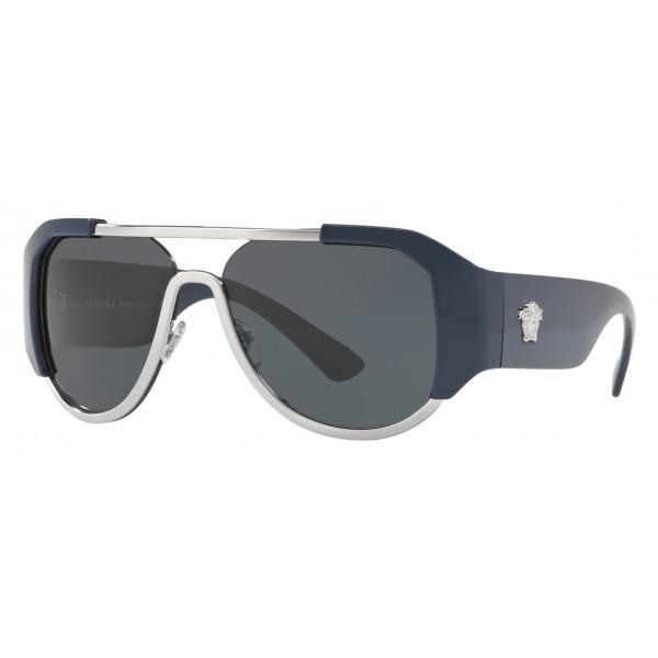 Eyewear Blue Navy Versace Sunglasses Shield odeCrxB