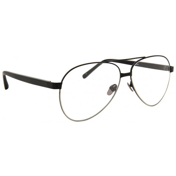 Linda Farrow - 533 C9 Aviator Optical Frames - Black - Linda Farrow Eyewear