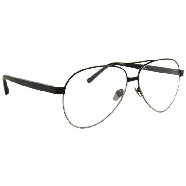 Linda Farrow - 533 C9 Aviator Optical Frames - Black - Linda Farrow Eyewear