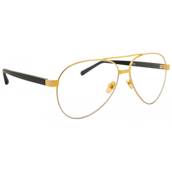 Linda Farrow - 533 C7 Aviator Optical Frames - Gold - Linda Farrow Eyewear