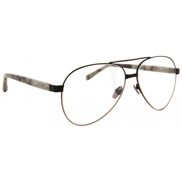 Linda Farrow - 533 C8 Aviator Optical Frames - Black - Linda Farrow Eyewear