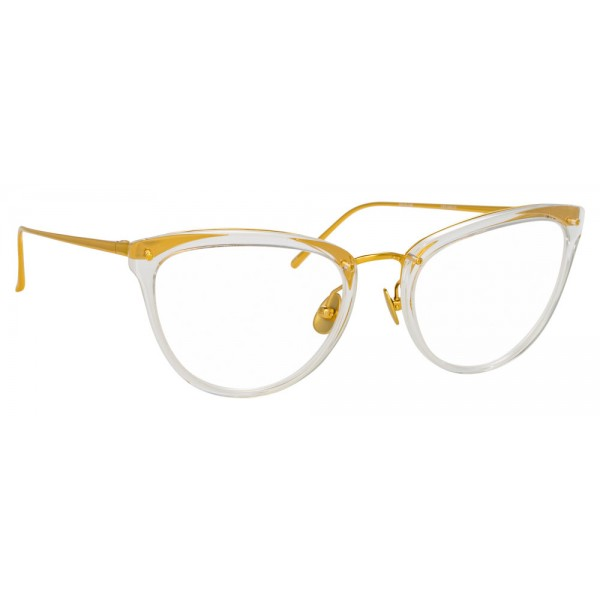 Linda Farrow - 683 C14 Cat Eye Optical Frames - Clear - Linda Farrow Eyewear