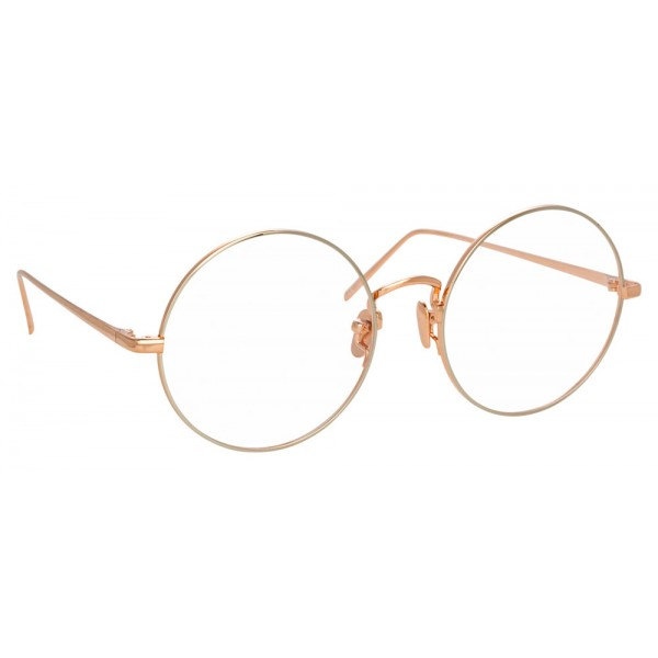 Linda Farrow - 741 C11 Round Optical Frames - Rose Gold and White Gold - Linda Farrow Eyewear