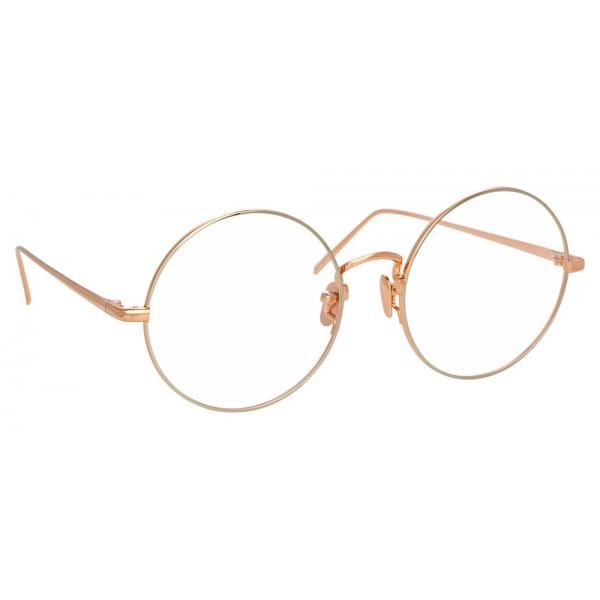 Linda Farrow - Occhiali da Vista Rotondi 741 C11 - Oro Rosa e Oro Bianco - Linda Farrow Eyewear