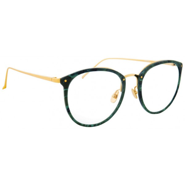 Linda Farrow - 251 C43 Oval Optical Frames - Jade - Linda Farrow Eyewear