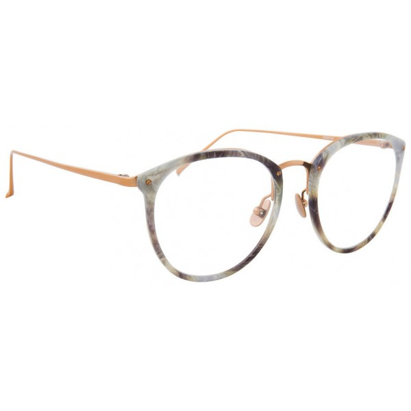 Linda Farrow - 251 C44 Oval Optical Frames - Grey Marble - Linda Farrow Eyewear