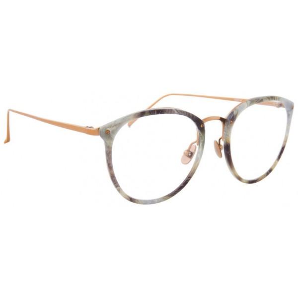 Linda Farrow - Occhiali da Vista Ovali 251 C44 - Marmo Grigio - Linda Farrow Eyewear