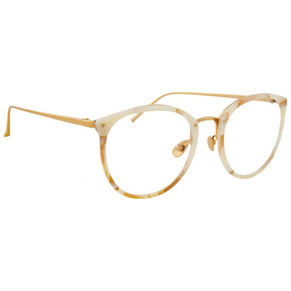 Linda Farrow - 251 C45 Oval Optical Frames - Quartz - Linda Farrow Eyewear