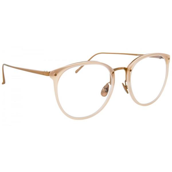 3ef55b13d2f4 Linda Farrow - 251 C56 Oval Optical Frames - Milky Peach - Linda Farrow  Eyewear - Avvenice