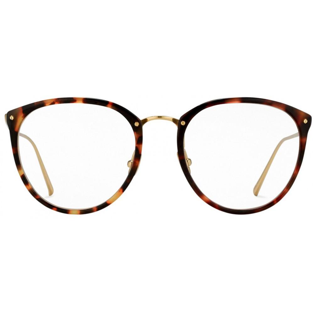85e8ba78e462 ... Linda Farrow - 251 C15 Oval Optical Frames - Truffle - Linda Farrow  Eyewear ...