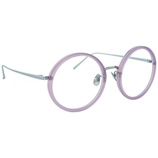 Linda Farrow - 239 C63 Round Optical Frames - Milky Purple - Linda ...
