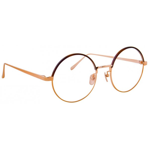 c0ade1c471f Linda Farrow - 583 C4 Round Optical Frames - Rose Gold - Linda Farrow  Eyewear - Avvenice