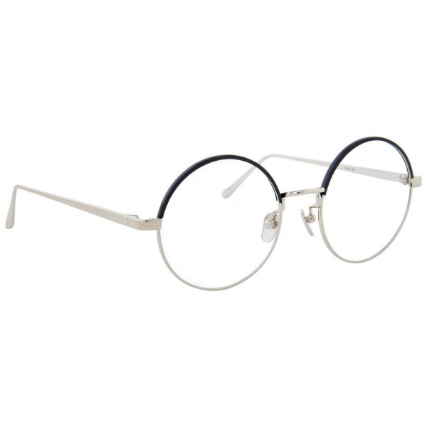 Linda Farrow - 583 C3 Round Optical Frames - White Gold - Linda ...