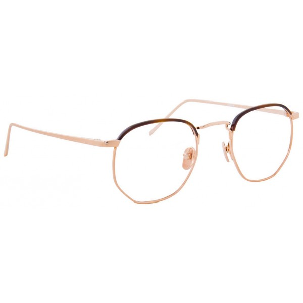 9ea9bc629d2 Linda Farrow - 586 C4 Angular Optical Frames - Rose Gold - Linda Farrow  Eyewear - Avvenice
