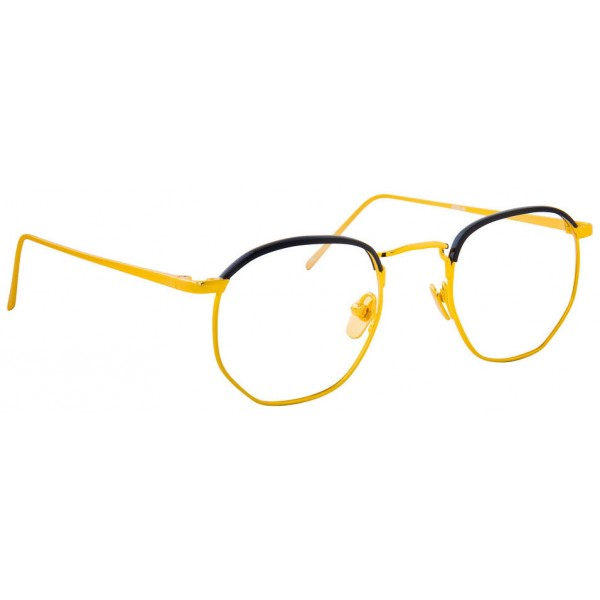 cc076cd94a Linda Farrow - 586 C1 Angular Optical Frames - Gold - Linda Farrow Eyewear  - Avvenice